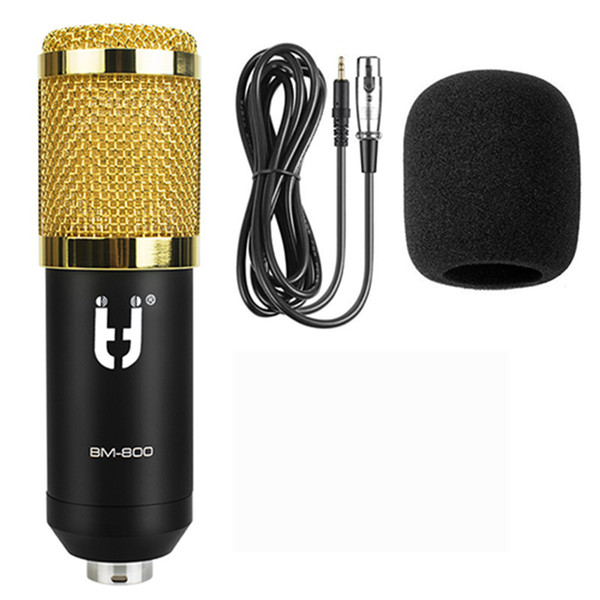 New BM800 Computer Microphone 3.5mm Wired Condenser Sound Microphone With Shock Mount For Recording Braodcasting BM-800 Mic