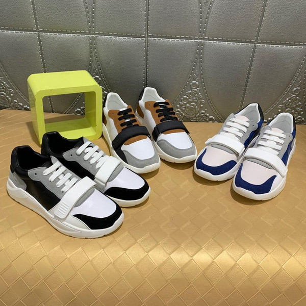 2019Tasarımcı Erkek Lüks Ayakkabı Koşu SneakersBurberry 2020 Erkekler rahat ayakkabılar 38-451025-1