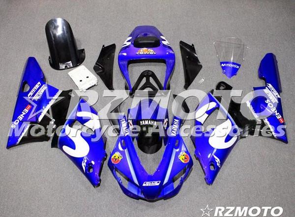 Qualidade OEM novos kits de carenagem completa ABS apto para YAMAHA YZF R1 98 99 YZF1000 1998 1999 R1 carroçaria conjunto personalizado azul