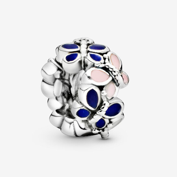 Fit pandora armband charme schmetterling spacer stil charme perlen armbänder 925 silber armreif geschenk diy schmuck mit original logo