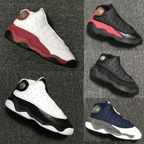 Children 13 XIII Basketball Shoes Kids 13s Sports Boys Girls Youths Little Baby Athletic Sneakers Cheap for sale size 22-27