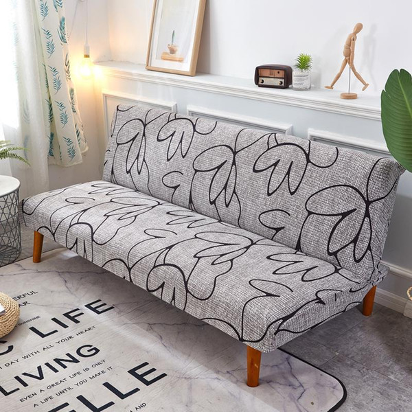 Grey And Black Sofa Bed Cover Folding Ling Chair Seat Slipcovers Stretch  Covers Cheap Couch Protector Elastic Futon Bench Covers Cheap Linen Rentals  ...