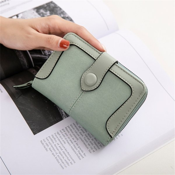 New Money Small Wallet Women Casual Solid Wallet Fashion Female Short Mini All-match Korean Students Love Small