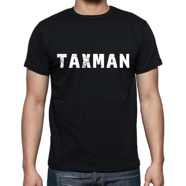 Taxman Tshirt, Homme Tshirt Noir, Erkek Tshirt siyah, Cadeau, Hediye Baskı Tees Kısa Kollu O-Boyun Kollu Erkek Pamuk Erkekler T-Shirt Pug