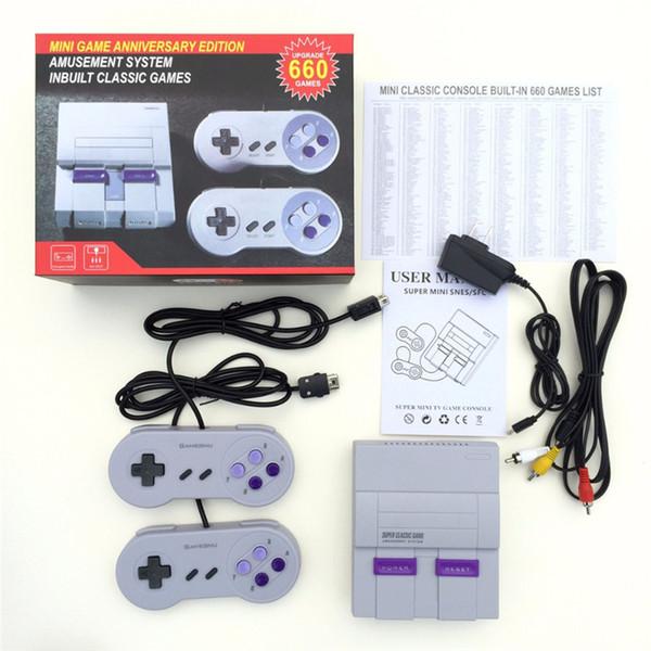 Gute Qualität Super Mini Classic Videospielkonsole 400 660 Klassische Retro Spiele Spielkonsole Für SFC NES Spiel Player