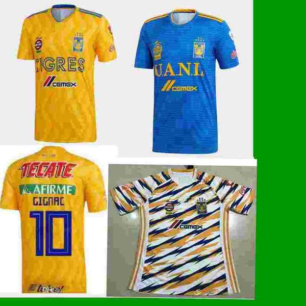 GIGNAC 18 19 Mexico club Tigres UANL Yellow home 3RD soccer jersey 6 Stars  Vargas H. Ayala SOSA 2018 2019 away blue football Shirt WOMAN b0a54cdd0