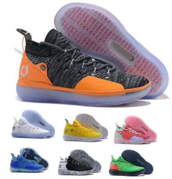 Eybl Kd 11 11s Basketball Shoes Sneakers 2019 Mens Gold Multi Still BHM Kevin Durant XI Oero Foam Man Sports Trainer Designer Shoes