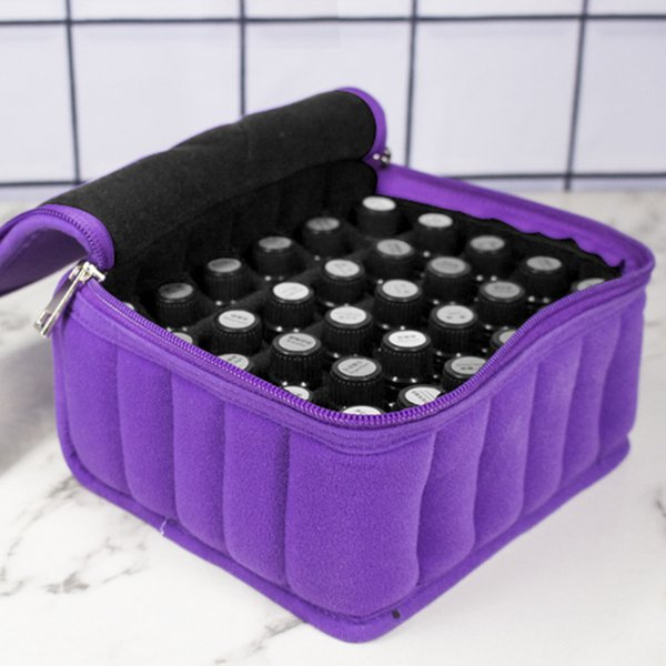 30 Bottles Essential Oils Bag Lattices Cosmetic Bag 15ml Oil Carrying Holder Portable Travel Storage Box Nail Polish Organizer
