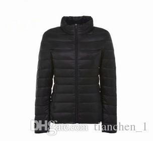 Lady Inoltre manica lunga, leggera Warm Giù Giacca imbottita invernale rivestimento delle donne parka di inverno delle donne del cappotto