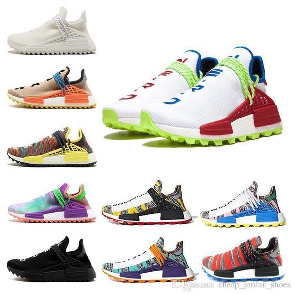Creme x NERD Solar Pack Human Race Running Shoes pharrell williams Afro Hu trail Homecoming Core Black trainers Mens Women Sports sneaker