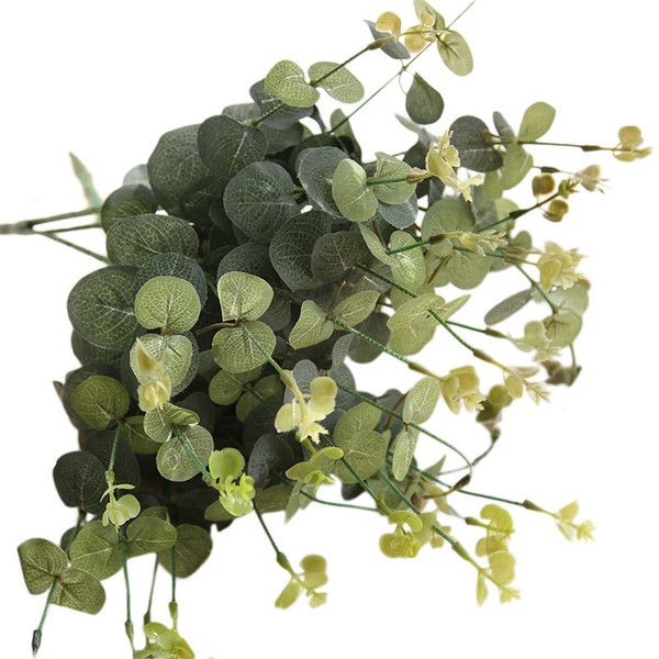 Eucalyptus money leaf with grass and flowers Snapdragon money string simulation flower indoor home decor garden outdoor decor