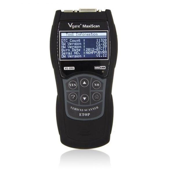 Maxiscan VS890 Vgate Scanner Multi-Language OBDII Diagnostic Scan Tool Code Reader