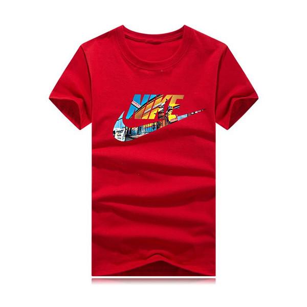 T-shirt sportiva estiva a maniche corte T-shirt da uomo nuova moda hip-hop degli uomini della moda casual sottile 05