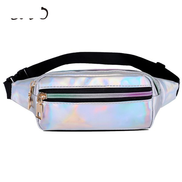 good quality Hologram Pack Laser Waist Packs Designer Small Waist Travel Pouch Bag Leather For Women Fashion Phone Belt Bag Belly Hip