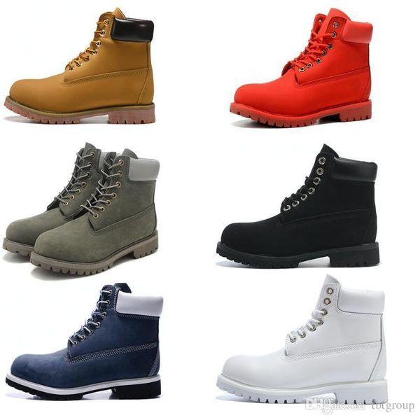 Cheville de base pour hommes de base de collier de contraste botte imperméable à l'eau bottes d'extérieur en cuir 6 femmes hommes en cuir couleur 36 EUR 36-46