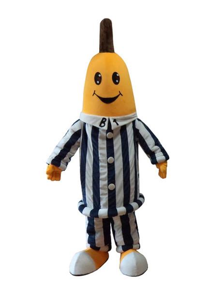 Trajes de la mascota del banano Trajes de la mascota del pijama para la fiesta de Halloween