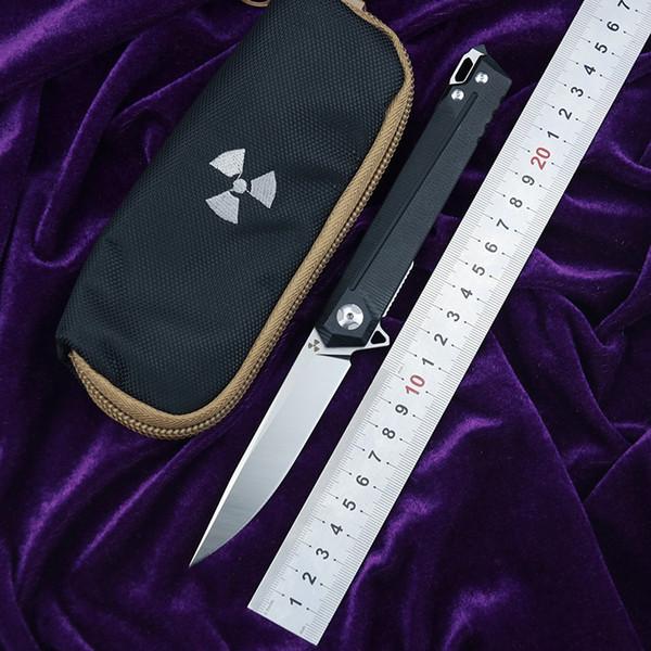 JK3311-G10 Flipper D2 çelik bıçak G10 + çelik kolu açık avcılık cep mutfak meyve katlanır bıçak EDC aracı