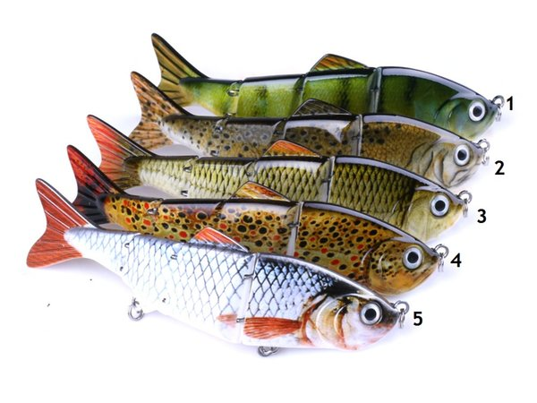 12cm/16.8g Multi-section Carp Fishing Lures 3D Eyes Lifelike Hard Baits Crankbait With 2 Hook Pesca Cebo Tackle Accessories