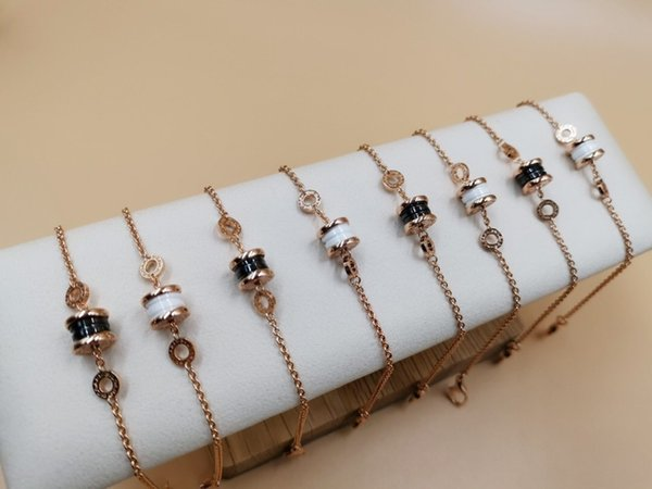 Женский браслет 2019 Fashion Classic из стерлингового серебра с платиновым золотом и керамической цепочкой