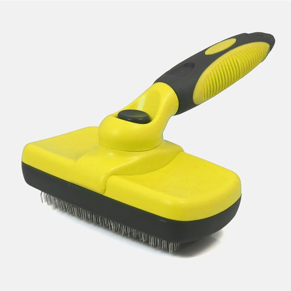New Pet Grooming Slicker Brush Dog Pets Cat Stainless Steel Comb Self Cleaning Deshedding Tool For Domestic Animals Hair Remover T8190706
