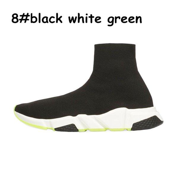 A8 black white green