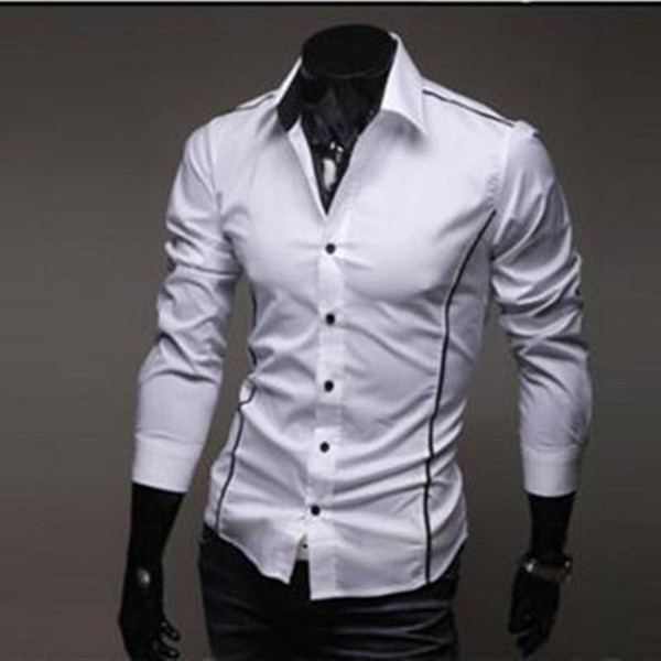 Nicebrand New Style Design Mens Shirts High Quality Casual Slim Fit Stylish Dress Shirts 2 Colors Size:m~xxxl