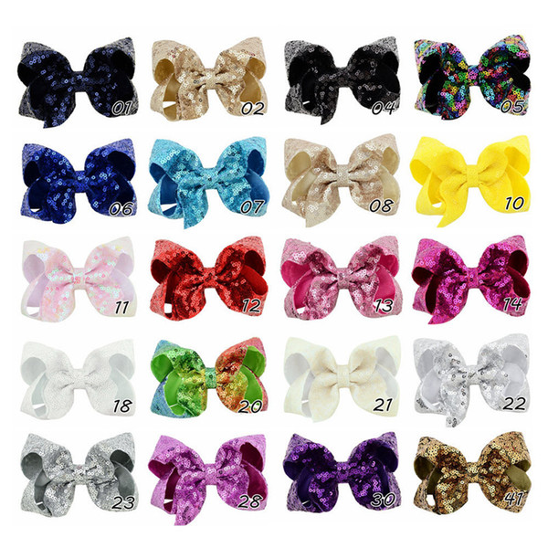 20 niñas de diseño jojo horquillas de flores arco de la burbuja del paillette pasadores niños arco accesorios para el cabello de la princesa arco de la pinza de pelo de la lentejuela de Bling