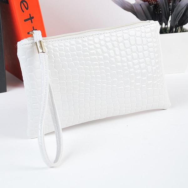c877421a3117 Women Purses And Handbags Mini Phone Bag Card Holder Solid Crocodile  Leather Simple Wild Elegant Ladies Clutch Sac Main Femme Er Bags For Sale  ...