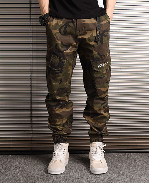 huge sale 2018 shoes best loved 2019 Brand New Mens Pants Fashion Camouflage Joggers Pants Men Women Zipper  Overalls Beam Foot Trousers Irregular Jogging Pants From Gucciclothej, ...