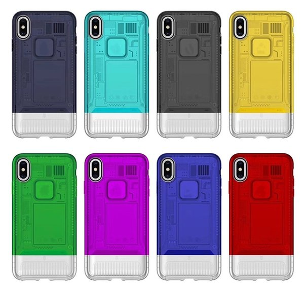 Free Shipping Aurora Translucent Combo Shockproof Cell Phone Cases Personalized Mobile Phone Cover For iPhone 6/7/8/XS/XR/XS MAX