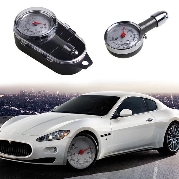 top popular Auto Wheel Tire Air Pressure Gauge Meter Handle Mirror Shaped Vehicle Motorcycle Car Tyre Tester FO Sale 2021