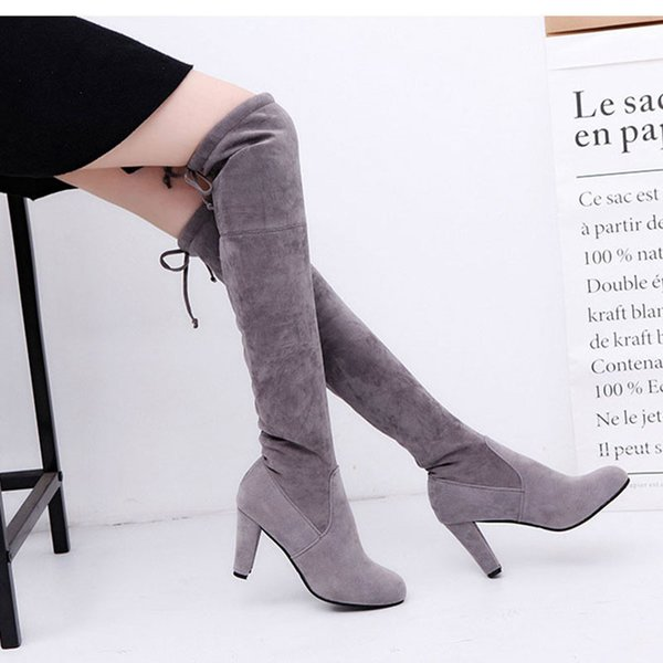 Women's Shoes Woman Boots Large Autumn Winter Over Knee Boots High Heels Sexy Party Women Botines Mujer