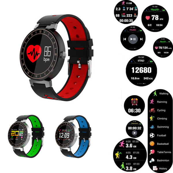 eb54baad04ab FANTEMO Reloj Inteligente Hombres Pantalla a Color Monitor de Ritmo  Cardíaco deporte Reloj Inteligente Impermeable Rastreador