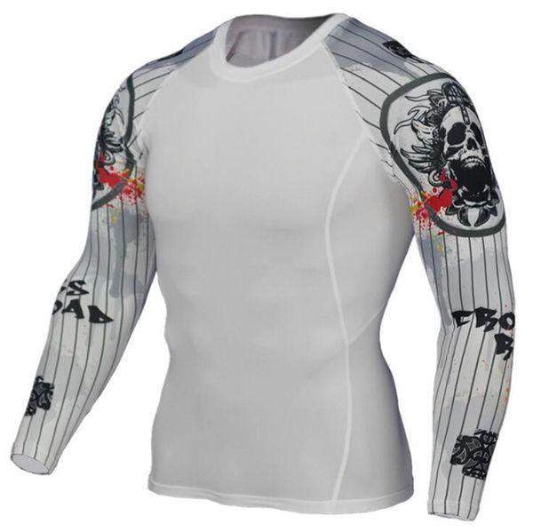 3D Impresso camiseta Meias De Compressão Dos Homens de Fitness Camisa Running Respirável Manga Comprida Esporte Rashgard Ginásio rashguard Roupas C16