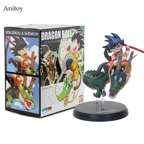 Dragon Ball Goku Super Saiyan Goku Z con Dragon Equitazione azione PVC Figure Collezione Toy Model Doll 14 centimetri