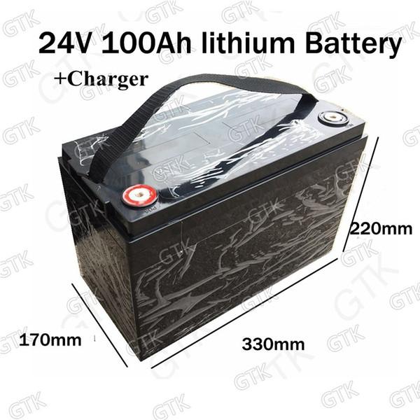 Bateria de íon de Lítio à prova d 'água 24 V 100AH Bicicleta elétrica 24 V Carro de Golfe Solar lipo Bateria para Empilhadeira garfo + 29.4 v 10A carregador