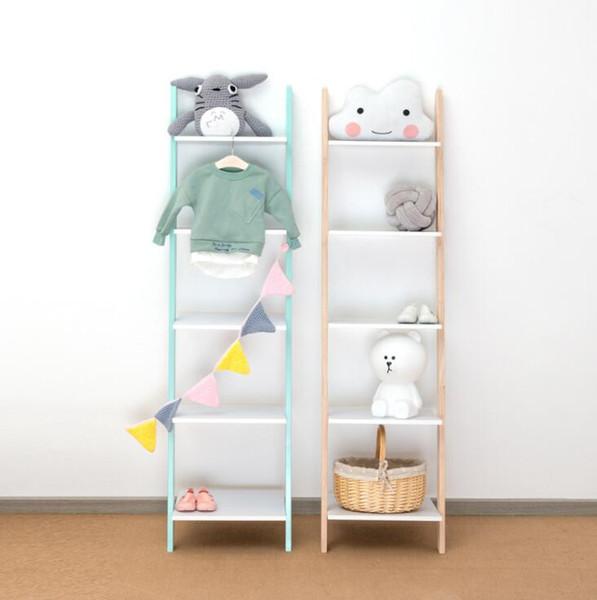 2019 Storage Shelf Ins Living Room Children\'S Clothing Store Trapezoid  Shelf Solid Wood Wall Shelf Flower Shelfs Floor Corner Storage Shelfs From  ...