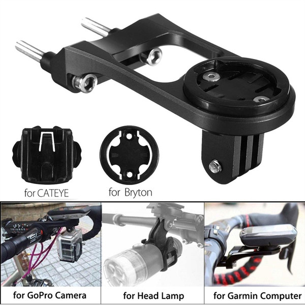 Bike Bicycle Stem Extension Computer Mount Holder For GoPro for GARMIN Camera Road Mountain Bike Phone Stand +Adapter #567669