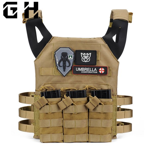 Dropshipping Tactics JPC Vest Multi Pockets Plate Carrier Vest Paintball Combat Molle Tactical Live CS