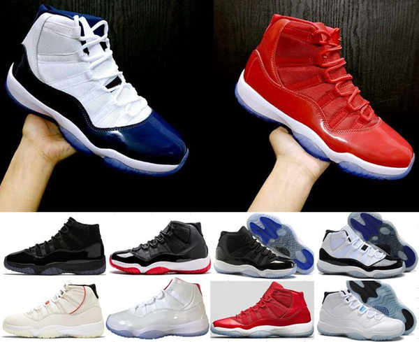 0a6075331663 11s Basketball Shoes Concord 45 Platinum Tint Cap and Gown Space Jam Win  Like 96 Designer Shoes Men Women 11 Sports Sneakers 36-47