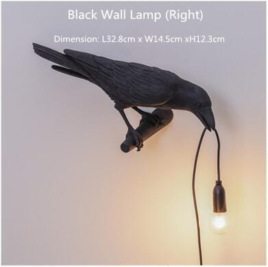 검은 색 벽 램프 (오른쪽)