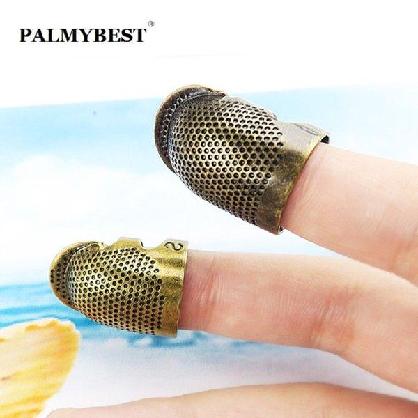 Finger Fingerhut Schnelles Verschiffen Antike Metall Messing Fingerhut Fingerschutz für DIY Nadeln Nähen Thimbles Werkzeuge Zubehör Größe M