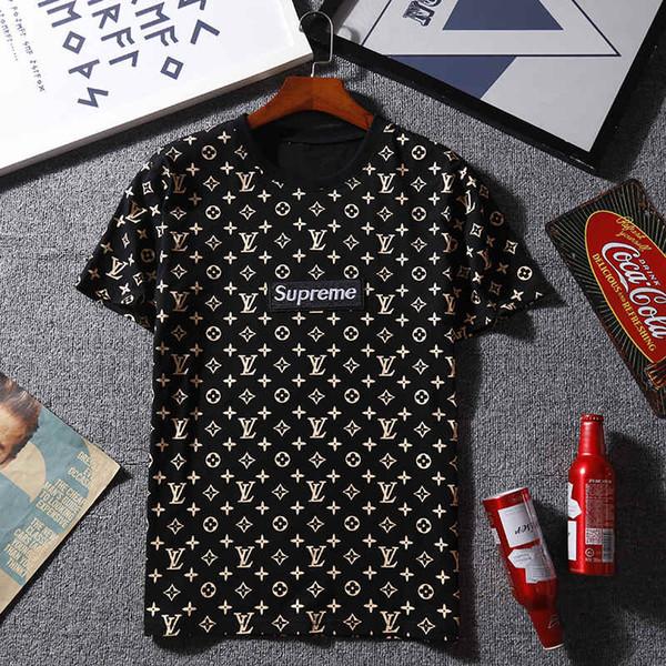 Shirt Kurzarm T-Shirt aus bedruckter Baumwolle Herren Kleidung Heiße Verkäufe Baumwolle Neue Herren Sommer Tees Plus Size S-2XL.