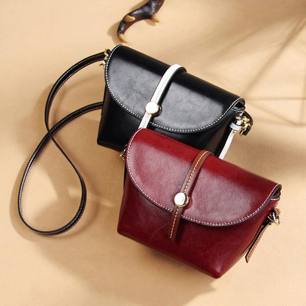 Belle2019 Ma'am East Gate Oblique Satchel Woman Guangzhou Genuine Leather Bag Single Shoulder Package
