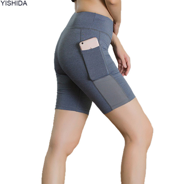Womens fitness trainning Shorts sport Compression Shorts sexy running trunks quick dry gym short pants high waist workout