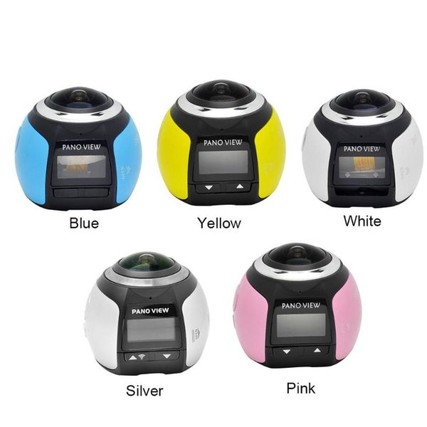 V1 4K Camara 360 Degrees Panoramic Lens Camera HD 0.96 inch WiFi Photo Camera