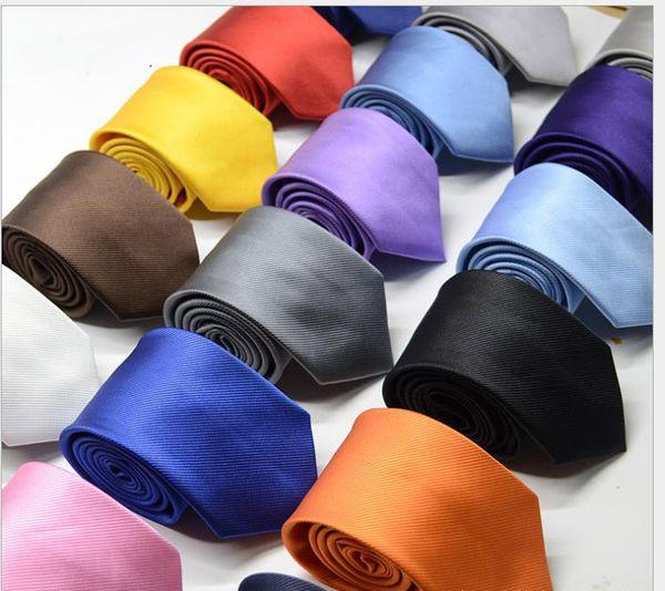 8 cm saf renk iş kravat polyester ok şeklinde jakarlı kravat