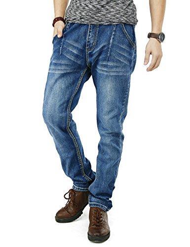 3bf3b74640a 2019 PY BIGG Mens Jeans Regular Fit Big Tall Jogger Pants Stretch ...