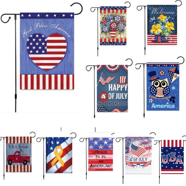 New Trump Jardim Bandeira Para O Presidente Fazer América Grande Novamente EUA Festa de Aniversário Decoração Bandeiras de Aniversário EUA DHL SHip HH9-2222