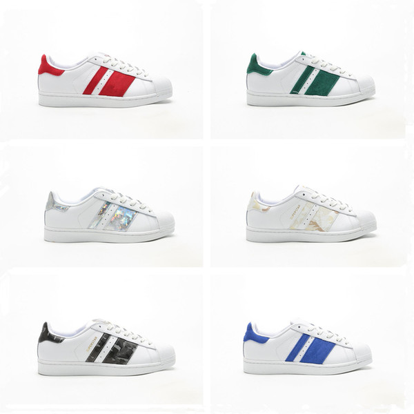 2019 New Superstar Shell cabeça clássico Casual Sports Shoes Top Quality Homens Mulheres Moda Athletic Sneakers Tamanho 36-44